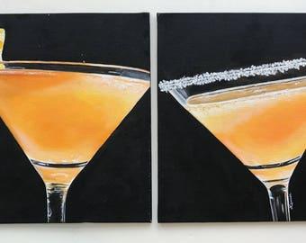 Martini Duo- Oil on Canvas