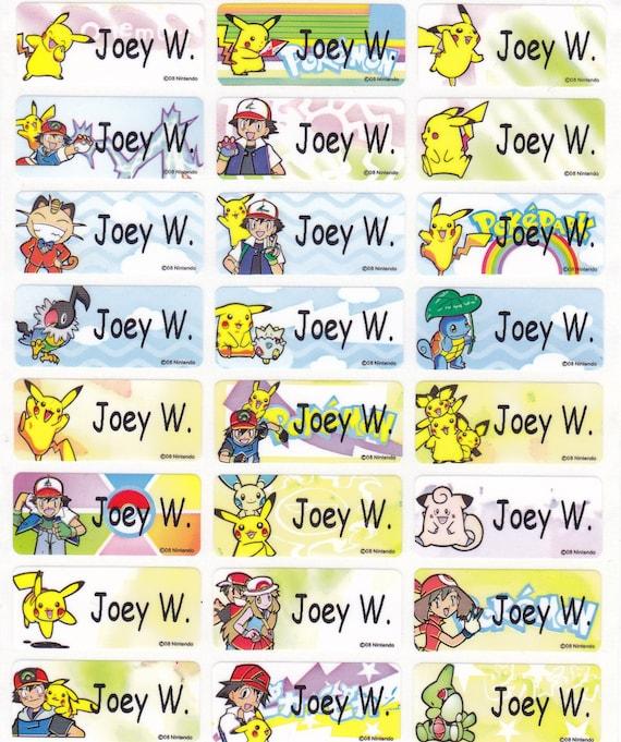72 Pokemon Pikachu Custom Vinyl Name