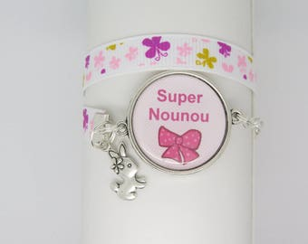 CUSTOMIZABLE GIFT FOR NANNY CABOCHON BRACELET