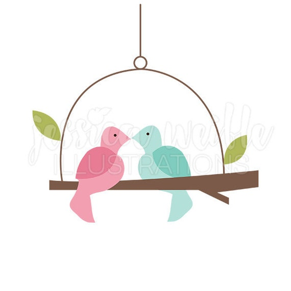 love bird swing cute digital clipart cute bird clip art bird rh etsy com love bird clipart black and white love birds clipart wedding