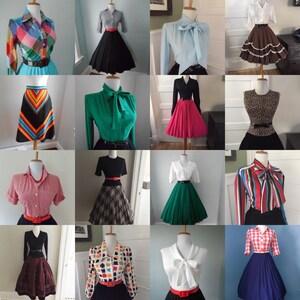 Cheap Womens Vintage Clothing  / Bulk Vintage / Vintage Clothing Lot / Wholesale Vintage Clothing / Vintage Blouse / Vintage Skirt 10 for 99