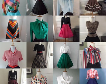 Cheap Womens Vintage Clothing  / Bulk Vintage / Vintage Clothing Lot / Wholesale Vintage Clothing / Vintage Blouse / Vintage Skirt 10 for 99