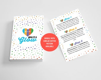 Rodan and Fields Mini Facial Cards, Instant Download, Give it a Glow, RF Mini Facial, Facial Instructions, Digital, Printable