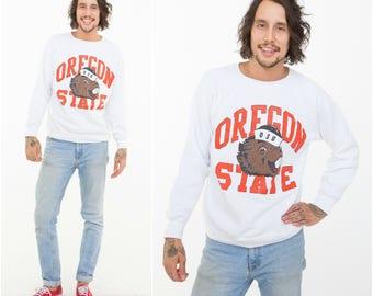 Beaver Sweatshirt / Oregon State / Size M-L