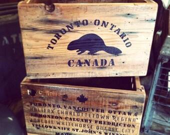 CUSTOM Reclaimed Solid Wood Crates