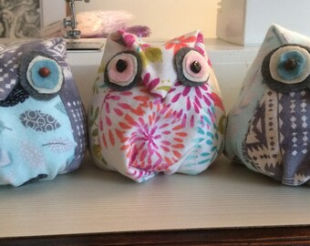 Lavender Stuffed Owls