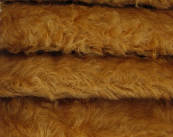 Quality 785S/C - Mohair - 1/4 yard (Fat) in Intercal's Color 711S-Caramel. A German Mohair Fur Fabric for Teddy Bear Making, Arts & Crafts