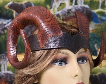 Leather Ram horns