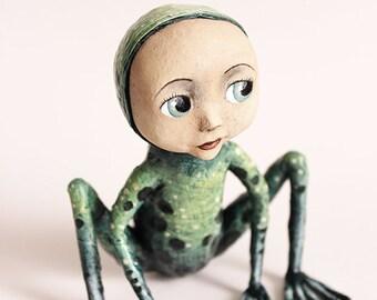 Metamorphosis Wai'anae frog KriSoft OOAK Doll