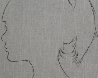 Custom Silhouette on Linen