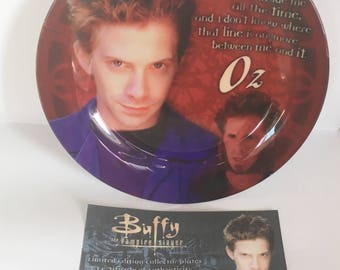 """Oz 8"""" Collectors Plate - Buffy the Vampire Slayer"""