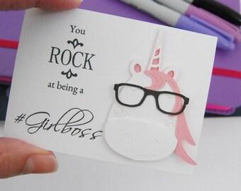 Unicorn Keepsake Note, Pocket note,Girl boss,Inspirational,gift for her
