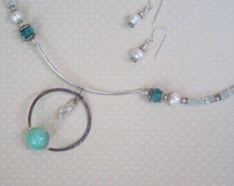 Pagoda Necklace and Earrings