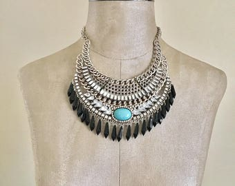Levi - Beaded Statement Necklace