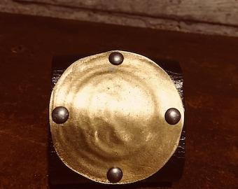 Brass Shield Cuff