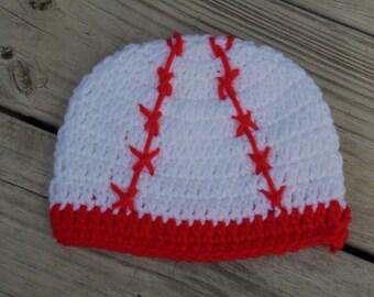 Crochet Baseball Hat, Crochet Boys Hat, Boys Hat, Baby Baseball Hat,  Infant Baseball Hat,  Child Baseball Hat, Crochet Baseball