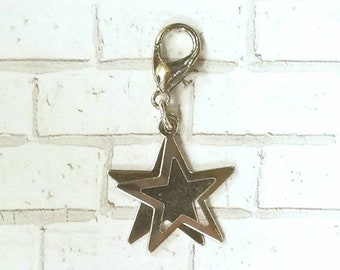 Double Star Planner Charm - Journal Accessories - Traveler's Notebook Jewelry - Space - Galaxy - Universe - Alien - Celestial - Astrology