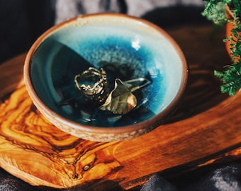 September: Ceramic Bowl - Tea Cup - Ring Dish - Zen Art Pottery - Jewelry Holder - Dipping Bowl - Jewelry Dish - Clay Bowl