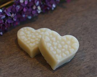 Heart Shaped 0.5 oz. Solid Lotion Bars Handmade All Natural set of 2
