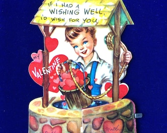 1940's Honeycomb Valentine Wishing Well Boy