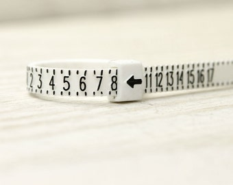 Ring sizer, multi use, sizes and half sizes 1-17, for thumb rings, regular and upper finger rings