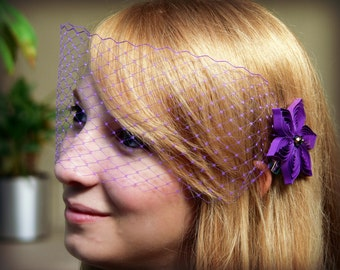 Royal Purple Wedding Veil