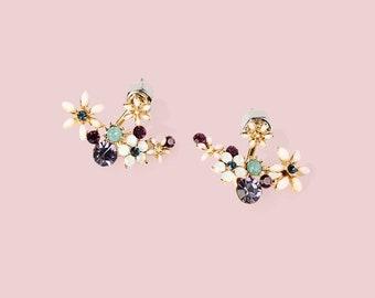 Bouquet Earrings   Handmade Earrings   Simple Stud Earrings   Simple Dangle Earrings   Colorful Flower Earrings Jackets Floral Earrings Set