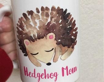 Hedgehog Mom Coffee Mug - Custom Coffee Mug - Gift For Christmas - Hedgehog Lover