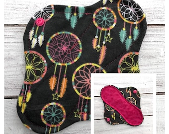 """8"""" Dream Catcher Flannel Cloth Panty Liner - Mama Cloth - Ready to ship"""