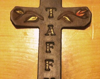 Custom Leather Saddle Cross