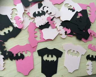 Batgirl Onesie Party Confetti, Baby Shower, It's a girl