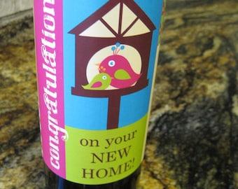 Digital Download - New Home Wine Wrap - Birds