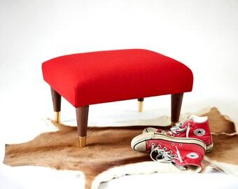 Small wool footstool modern