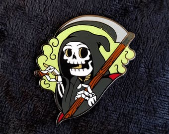 Grim Reefer Enamel Pin
