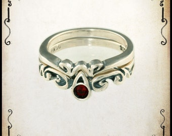 Guenièvre Medieval wedding ring - Sterling silver 925