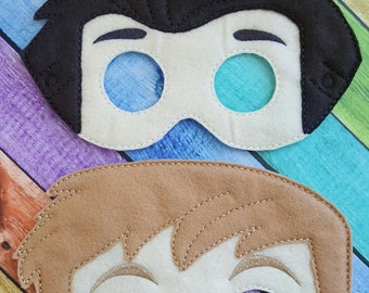 Kratt Felt Masks * Birthday Parties * Party Favors * Playtime * Halloween * Child Dressup * Felt Masks * Chris Mask * Martin Mask