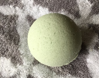 Monster Ball - Essential Oil Bath Bomb - Dye Free Bath Bomb - Citrus and Mint - Gift for Her - Artificial Fragrance Free -