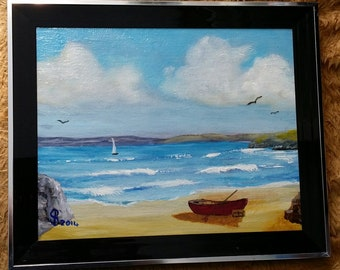 Choppy Seas - Original Oil painting by Stephen Poulter