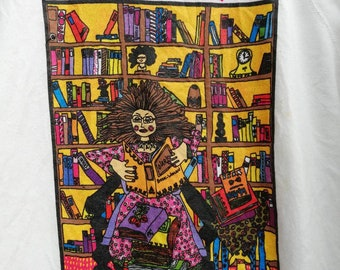 Kiki Suarez Book Woman Vintage 1989 Sweatshirt Artist Painted