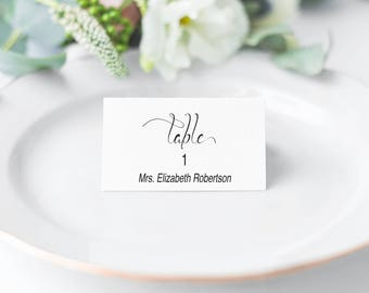 Place Cards Wedding, Place Cards Printable, Place Cards for Wedding, Reception, Place Card Template, PDF Instant Download 110B