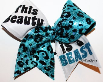 Cheer This Beauty is a BEAST custom allstar hairbow by Funbows