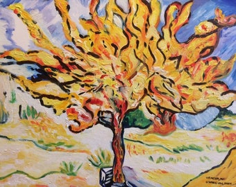 After Van gogh olive table
