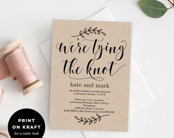 Printable wedding invitation Etsy