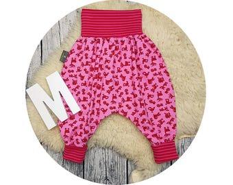 Mitwachsen trousers, harem trousers, harem pants, baby pants, baby, pants, Jersey pants, Püreh, deer, Fox, hedgehog, forest