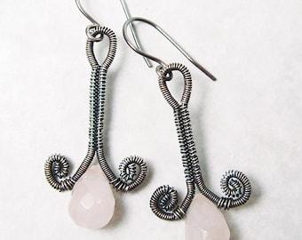 Rosebud Earrings Wire Woven EarringsTutorial