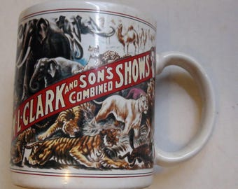 Circus poster mug from circus world