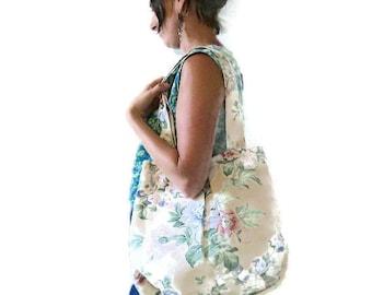 Large Boho Tote Bag, Large Fabric Tote Bag With Pockets, Large Shoulder Bag, Overnight Bag, Handmade, Uk Seller