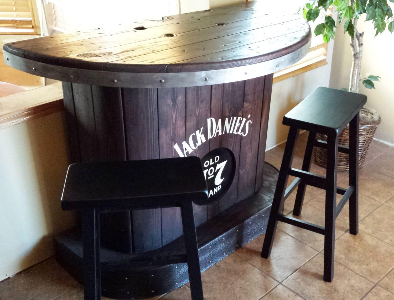 Rustic Bar For Man Cave : Sold jack daniels home bar custom hand built rustic whiskey pub