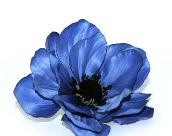 Dark Royal Blue Anemone - Artificial Flowers, silk flowers