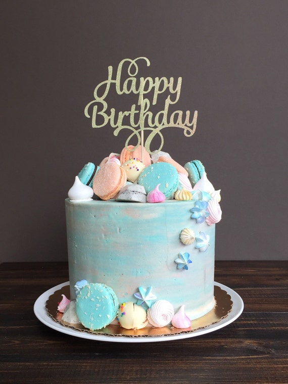 Cake Topper Happy Birthday Cake Topper Birthday Cake